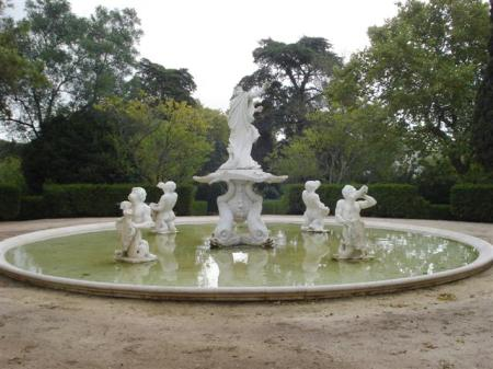 Just one of the eclectic collection of water features