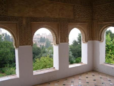Garden rooms and galleries to die for - this one at the Alhambra and Generalife