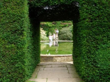 The classic garden door and passage at Hidcote - best in a garden with plenty of space, perhaps