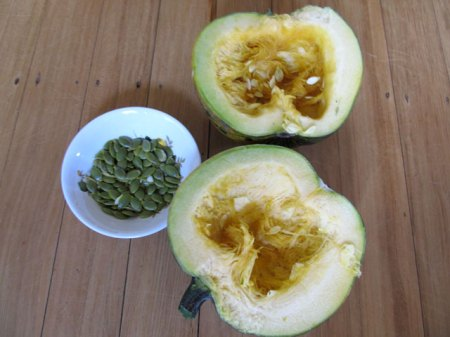 Rather too high a ratio of barely edible pumpkin to seed yield