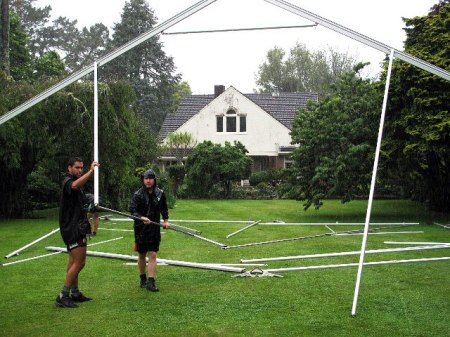 Just likeJust like putting up the family tent, really, but on a grand scale and without the arguments (even in the rain). Photo: Michael Jeans putting up the family tent, really, but without the arguments (even in the rains). Photo: Michael Jeans