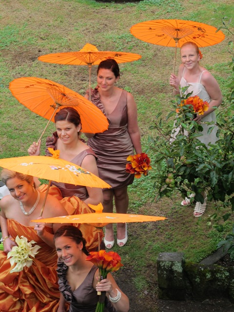 Did I mention the bride wore orange?