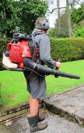 The enormously useful leaf blower