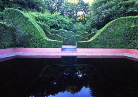 The reflecting pool at Veddw (instructions are in the book). Photo credit: copyright Charles Hawes