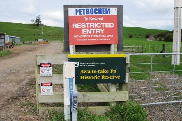 The site of the Otaraua protest
