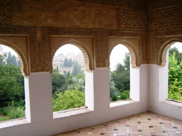My all time favourite garden room from the Alhambra in Granada but it may look a tad pretentious here