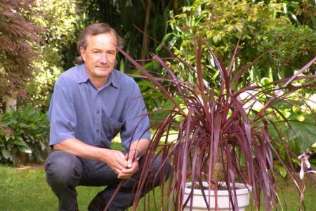and son - Mark Jury with Cordyline Red Fountain