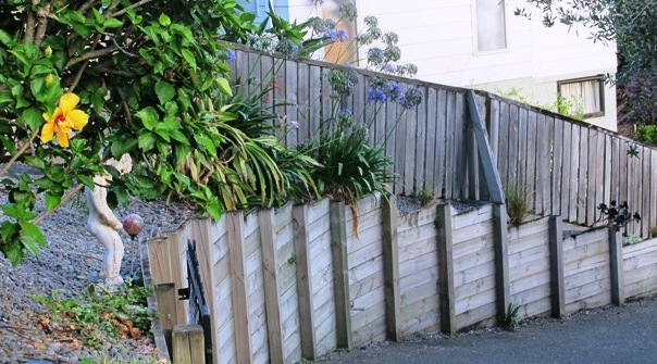 The DIY fence is often obvious by its undulating line, following the contours