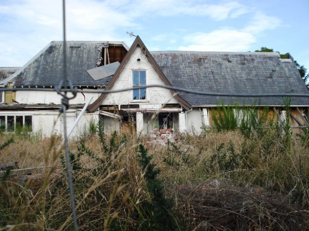Historic house sitting in limbo but the gorse and broom are staging a comeback in the central city