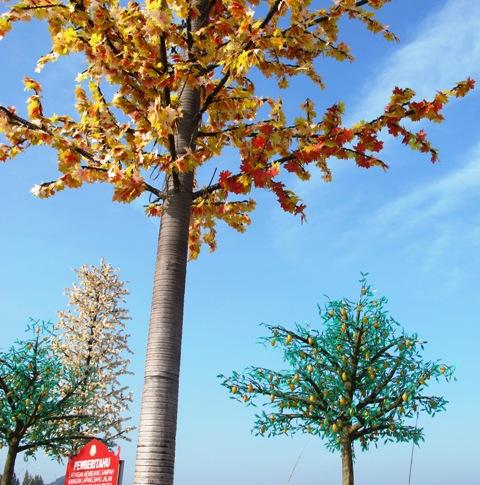Fake trees in Kuala Terengganu