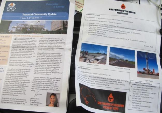 Side by side newsletters