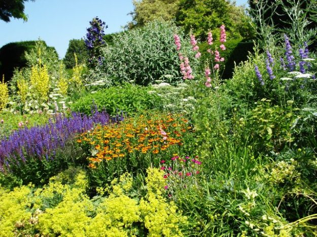 The long border at Great Dixter in England is regarded as a classic example of its type