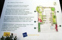 Each garden has an information board  in show garden style