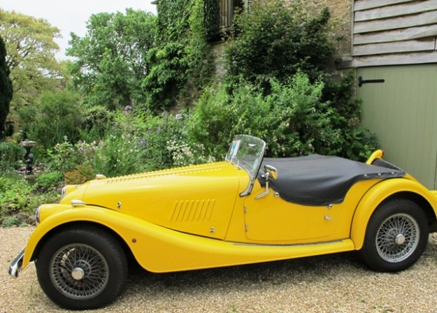 The current owner likes yellow convertibles. This is a Morgan, though apparently reproduction.