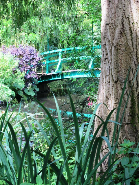 The iconic bridge at Giverny is recognisable from many Monet paintings.