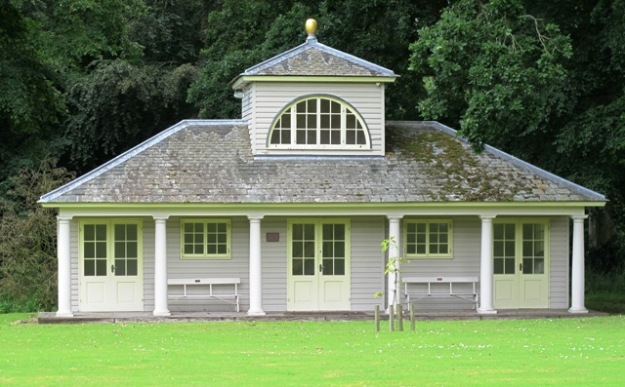 We lack a cricket pavilion in our garden. To build one, even as attractive as this one, would look sadly out of place