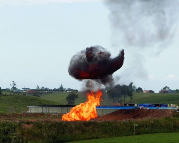 The genie is well and truly out of the bottle. Flaring on Mangahewa E site down the road. Photo: Fiona Clark