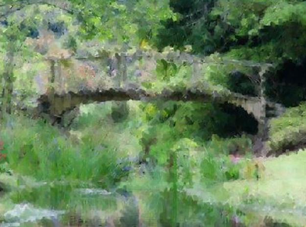 Monet-ish or Monet-esque. Perhaps.