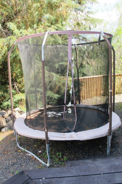 the modern safety version of the family trampoline is not going to have the life expectancy - Garden Design With Trampoline