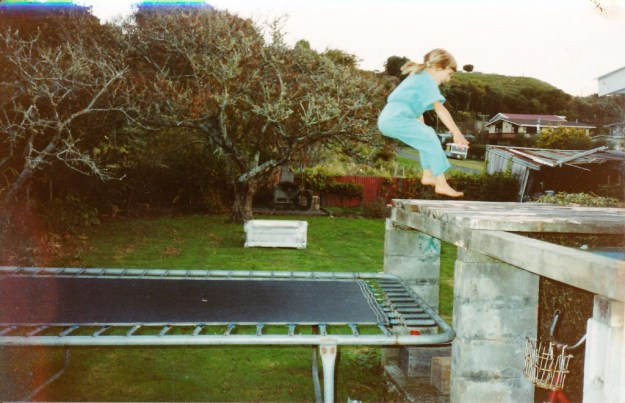 The disused water tank stand which made the tramp twice the fun. I see from the date that our daughter was only 6 at this time. By modern standards, we clearly allowed our children to take physical risks.