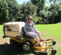 I admit we own the Rolls Royce of lawnmowers. It cost more than our car to buy