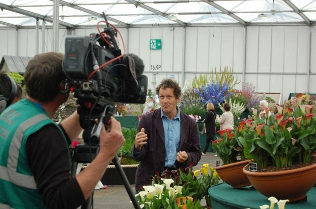Filming Gardeners' World for the BBC (photo credit: Andy Mabbett)
