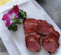 Allegedly cured goose but it might equally have been cured beef except that we were rarely served beef . With orchid.