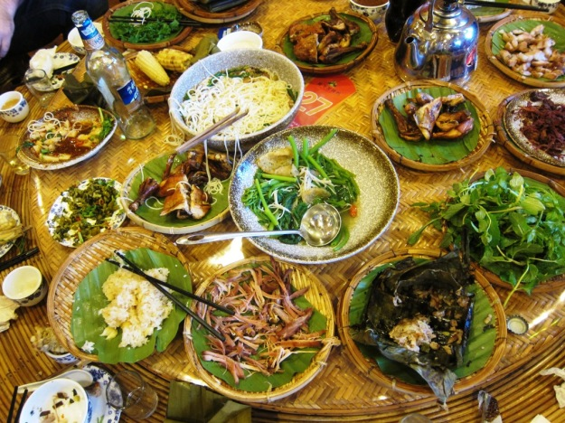 More Thai-influenced food down near the southern border in Jinghong - one of the most delicious meals we were served