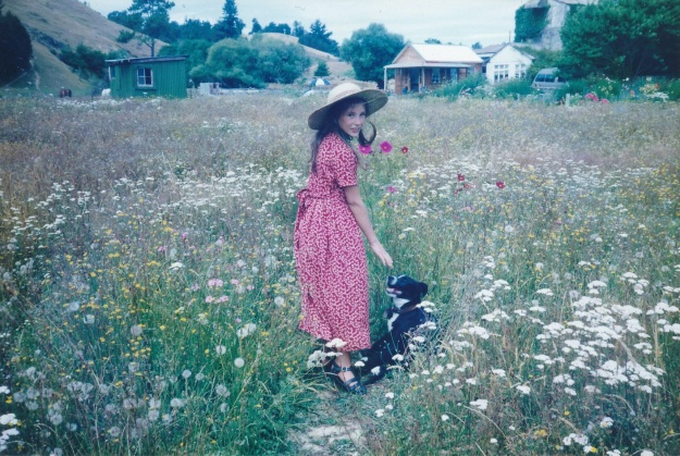 A treasured memory - our second daughter in a dry climate flowery meadow in the Nelson area around 1994